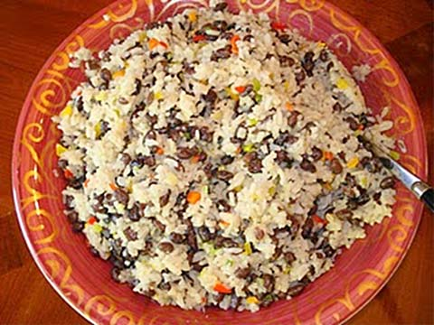 Coconut Rice with Confetti Peppers and Black Beans