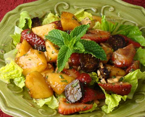 Fruit Salad with Figs, Melons and Berries