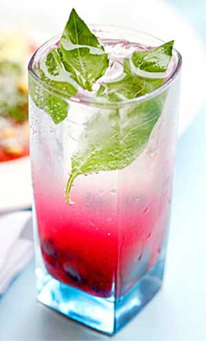 Raspberry Basil Collins